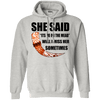 She said its either me or the mead ash pullover hoodie on a white background