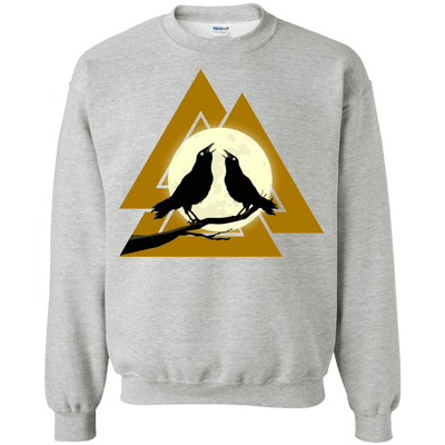Valknut Crew Neck Sports Grey Pullover Sweatshirt