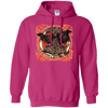 Huggin and Munnin Mjolnir Raven  Heliconia Hoodie