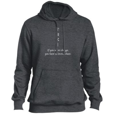 Change and Chaos Graphite Heather Pullover Hoodie