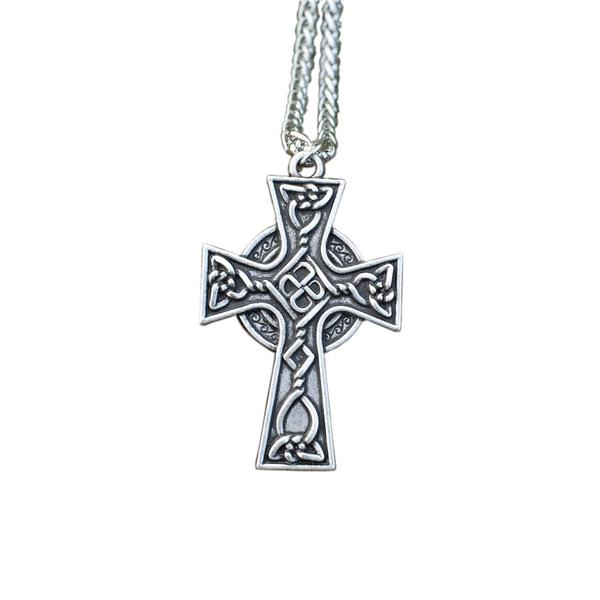 Galway Celtic Cross Pendant on a white background
