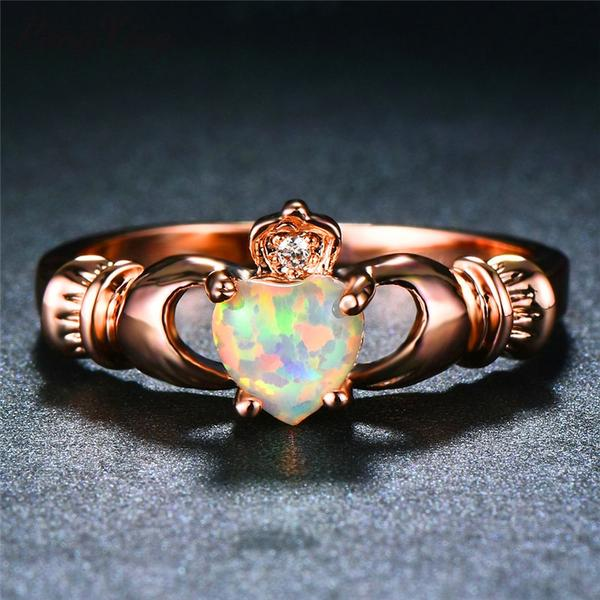 Rose Gold Irish Claddagh Ring