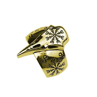 Retro Vegvisir Viking Ring bronze