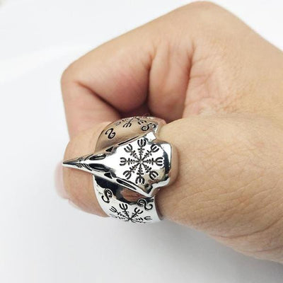 Retro Vegvisir Viking Ring