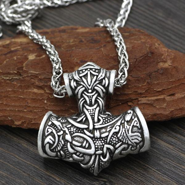 Large Thor Hammer Necklace