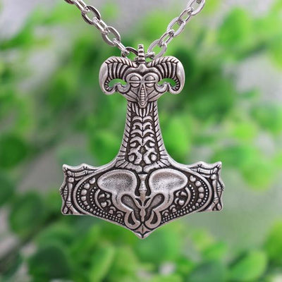 Silver plated Thor Hammer  Pendant