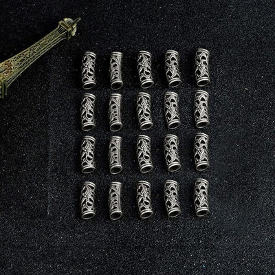 20pcs/lot  Viking Hair Beads silver
