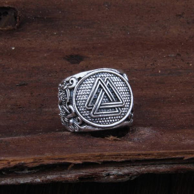 Valknut viking Adjustable Ring