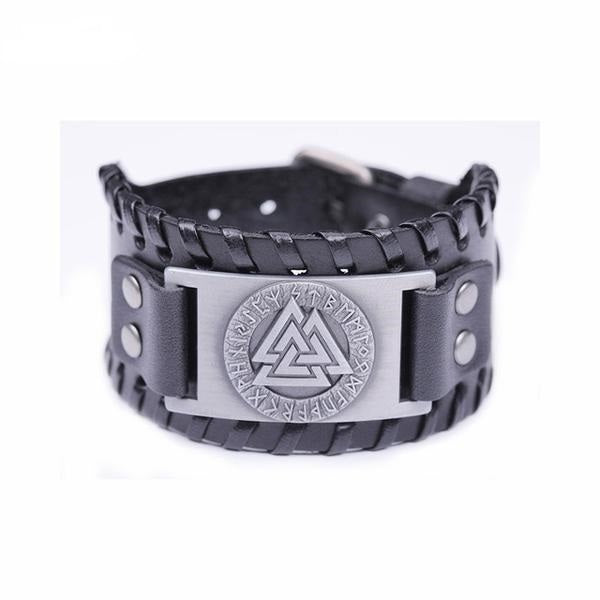 Valknut Leather Amulet