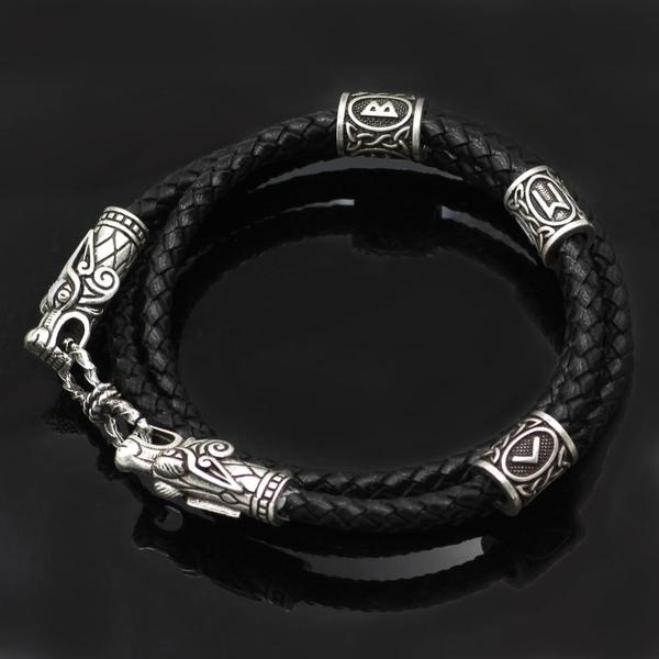 Viking Dragon head bracelet