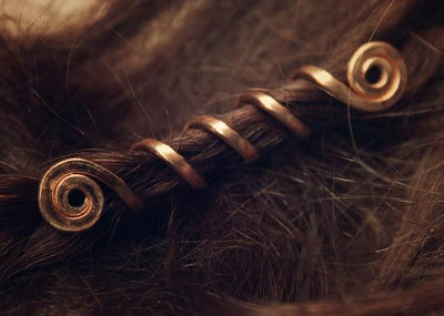 Viking Hair Beads gold
