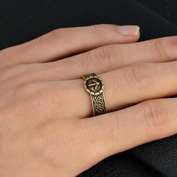 Vintage  Viking Rune Ring