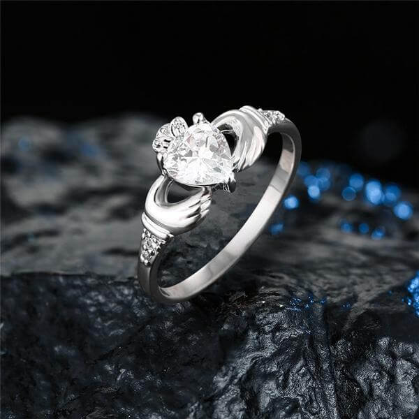 silver Claddagh Love Ring