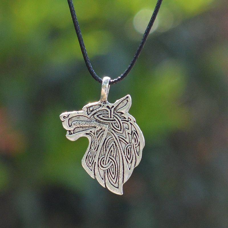 Celtic  Wolf Head Pendant