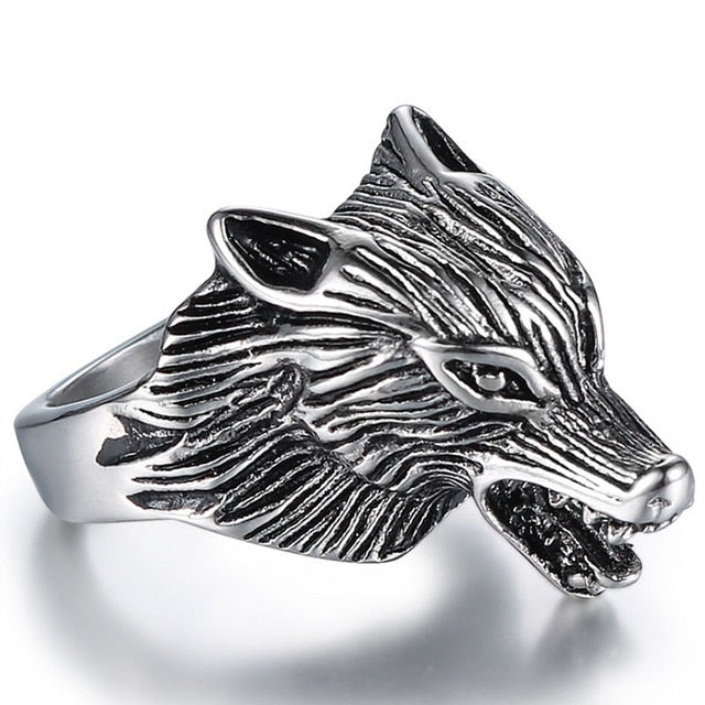 Night Wolf Ring