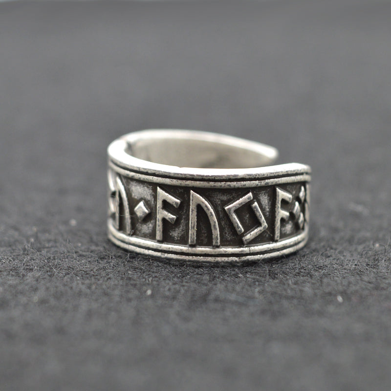 Adjustable Elder Futhark Ring