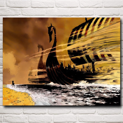 Drakkar Viking Ship 3D Poster