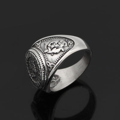 Fenrir Viking Runes Ring