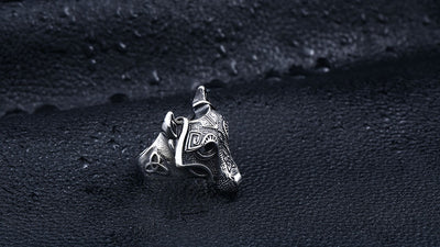 Nordic wolf Viking Ring