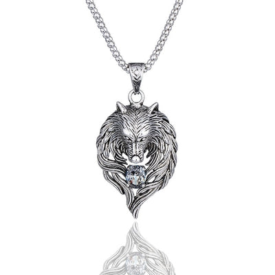 Wolf Head necklace for men