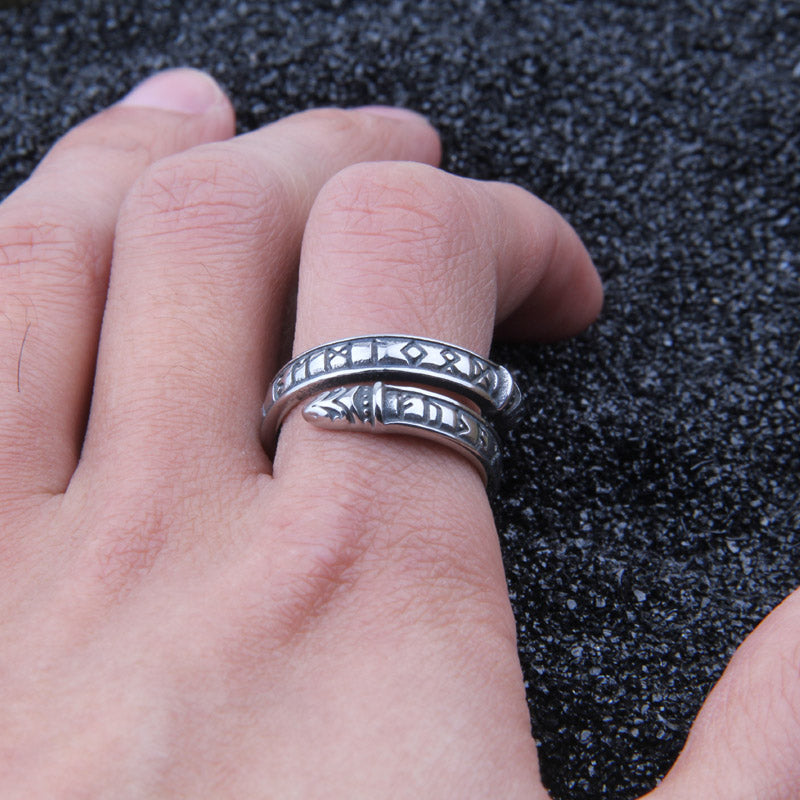 Adjustable Norse Viking Dragon Ring