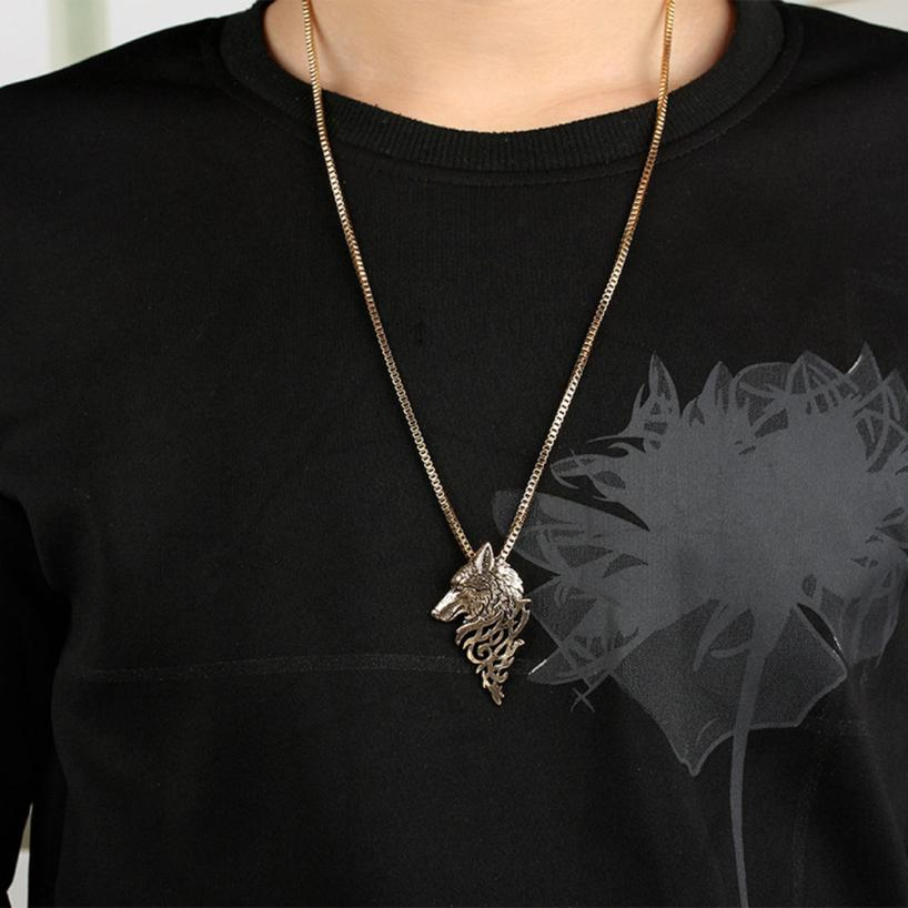 Dire Wolf Bronze  Necklace