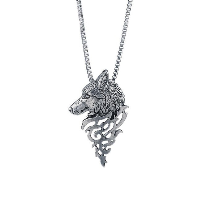 Dire Wolf Silver Necklace