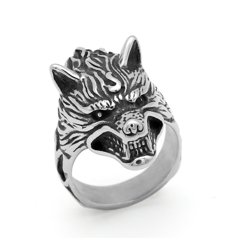Stainless steel Nordic Wolf Ring