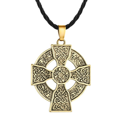 Solar Cross Celtic  Necklace bronze