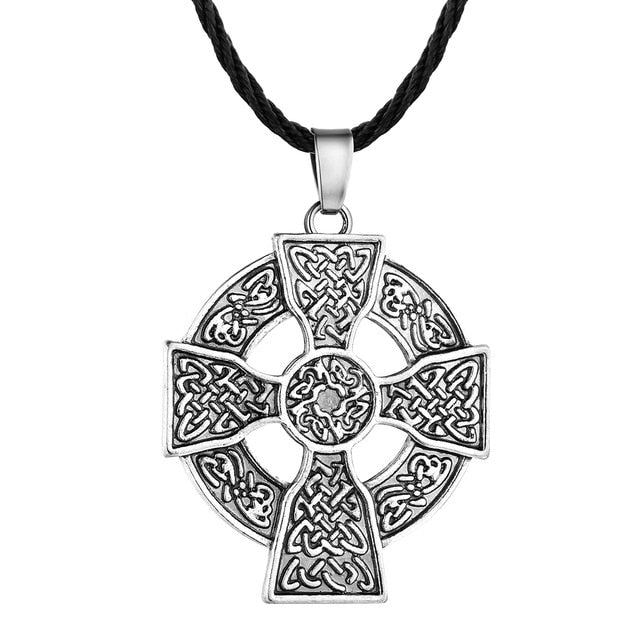 Solar Cross Celtic  Necklace silver