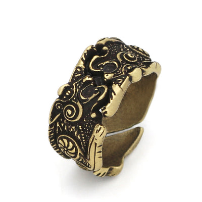 Adjustable Fenrir Viking Ring