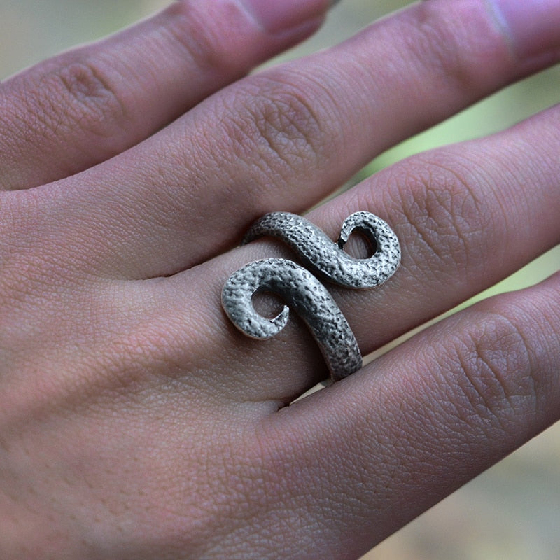 Ancient Silver Triskele Ring