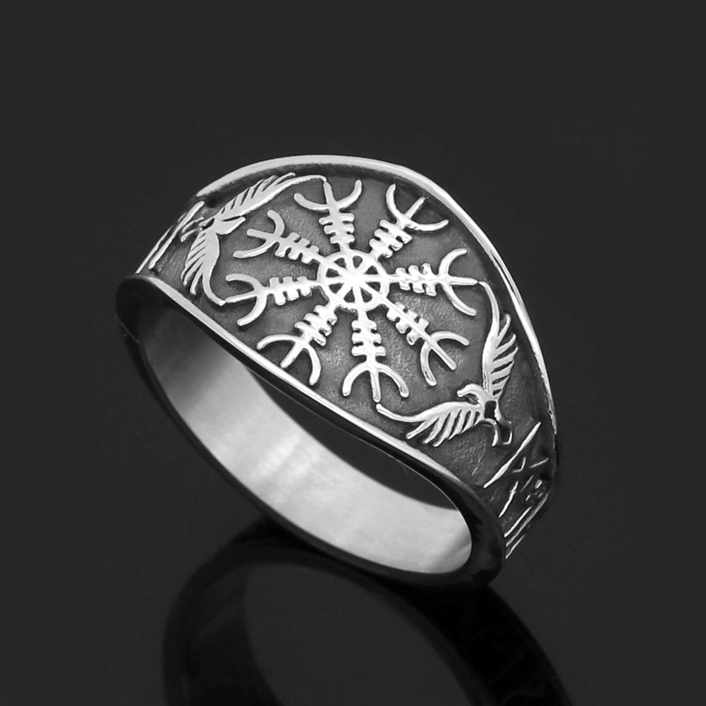 Nordic  Vegvisir Stainless steel Ring