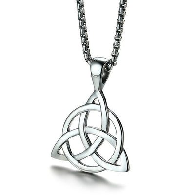 Irish Triquetra Knot Pendant on a white background