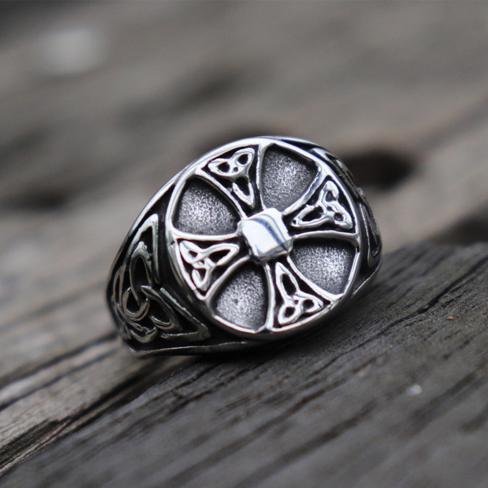 Celtics Knot Cross Signet Ring