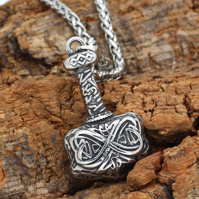 316L Stainless steel Mjolnir  Necklace