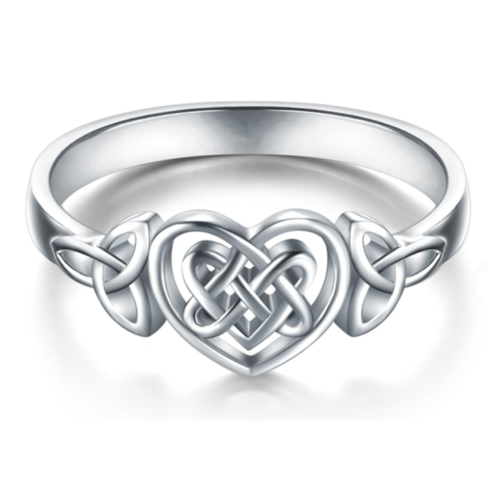 Love Heart Celtic Knot Ring