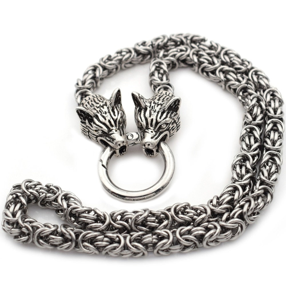 Kings Chain Wolf Head Necklace