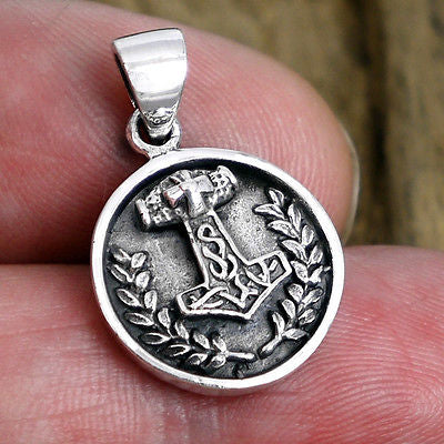 Thors Hammer Circle Pendant