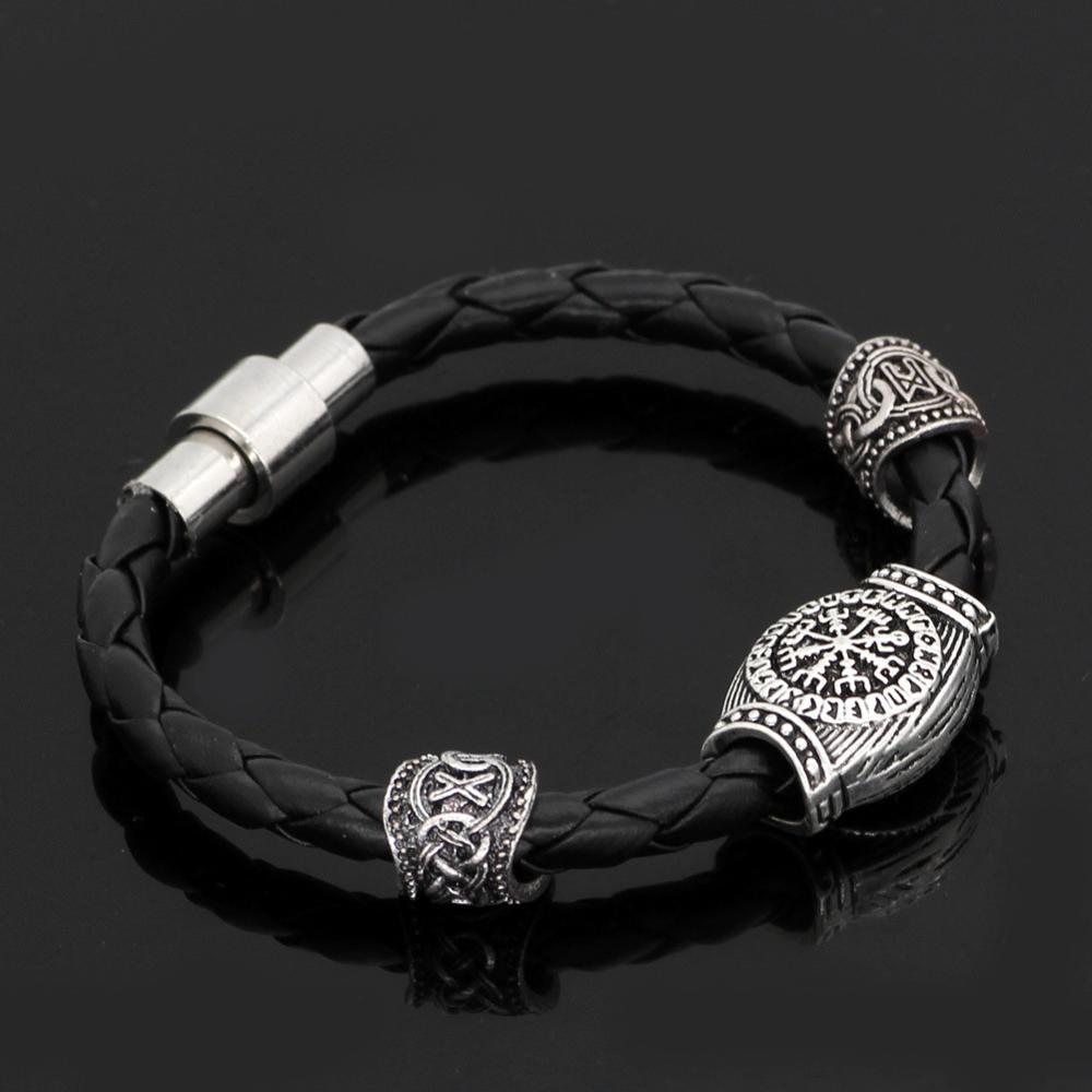 Vegvisir Leather Bracelet