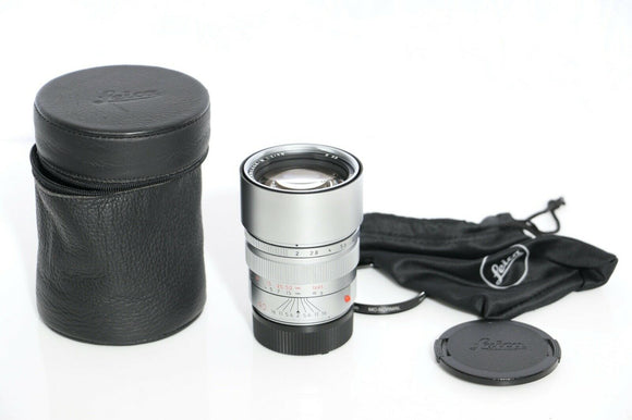 Leica Summicron-M F2 E55 Pre-Asph Late Silver Chrome Lens - Beautiful & Sharp!!!