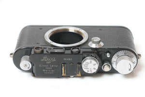 LEICA Leitz I Mod A Black Paint Sr 463 Camera Converted to IIIf - Rare Beauty!!!