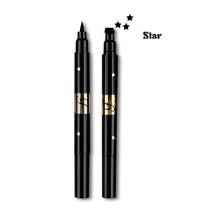 Double Head Liquid Stamp Eyeliner Pen-hair straightener,[product_type]-brush,SIMPLICITY Hair and Beauty -SimplicityHair&Beauty,Star-black,Star-hair-brush,[option2]-hair-curler,[option3]-flat-iron
