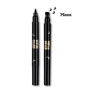 Double Head Liquid Stamp Eyeliner Pen-hair straightener,[product_type]-brush,SIMPLICITY Hair and Beauty -SimplicityHair&Beauty,Moon-black,Moon-hair-brush,[option2]-hair-curler,[option3]-flat-iron