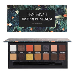 Tropical Rainforest Eyeshadow Palette-hair straightener,[product_type]-brush,SIMPLICITY Hair and Beauty -SimplicityHair&Beauty,TROPICAL PAINFOREST-black,TROPICAL PAINFOREST-hair-brush,[option2]-hair-curler,[option3]-flat-iron