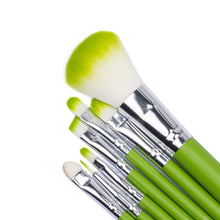 Load image into Gallery viewer, MINI Green Makeup Brush Set-hair straightener,[product_type]-brush,SIMPLICITY Hair and Beauty -SimplicityHair&Beauty,[variant_title]-black,[option1]-hair-brush,[option2]-hair-curler,[option3]-flat-iron