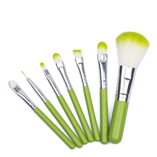 MINI Green Makeup Brush Set-hair straightener,[product_type]-brush,SIMPLICITY Hair and Beauty -SimplicityHair&Beauty,Default Title-black,Default Title-hair-brush,[option2]-hair-curler,[option3]-flat-iron