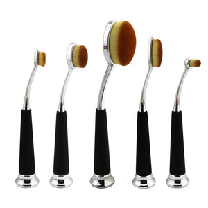 5 Piece Soft Oval Makeup Brushes Set-hair straightener,[product_type]-brush,SIMPLICITY Hair and Beauty -SimplicityHair&Beauty,[variant_title]-black,[option1]-hair-brush,[option2]-hair-curler,[option3]-flat-iron