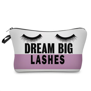 Letter Printed Makeup Bag-hair straightener,[product_type]-brush,SIMPLICITY Hair and Beauty -SimplicityHair&Beauty,41151-black,41151-hair-brush,[option2]-hair-curler,[option3]-flat-iron