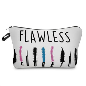 Letter Printed Makeup Bag-hair straightener,[product_type]-brush,SIMPLICITY Hair and Beauty -SimplicityHair&Beauty,41160-black,41160-hair-brush,[option2]-hair-curler,[option3]-flat-iron